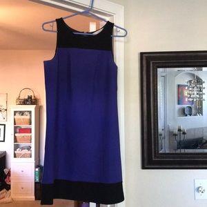 LOFT Blue & Black Sleeveless Dress